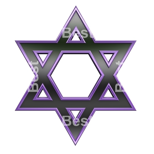 Black with purpleframe Judaism religious symbol