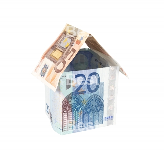 House made of Euro money