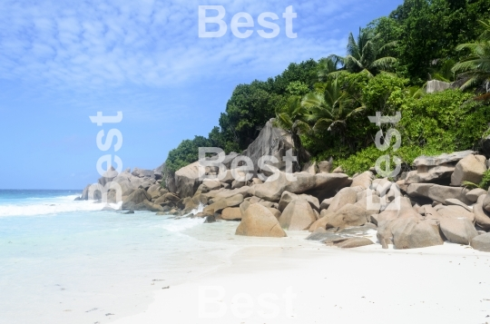 Rocky tropical beach