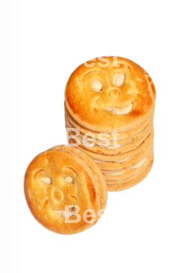 Smiling stuffed biscuit