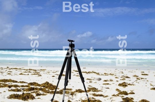 Tripod on the beach
