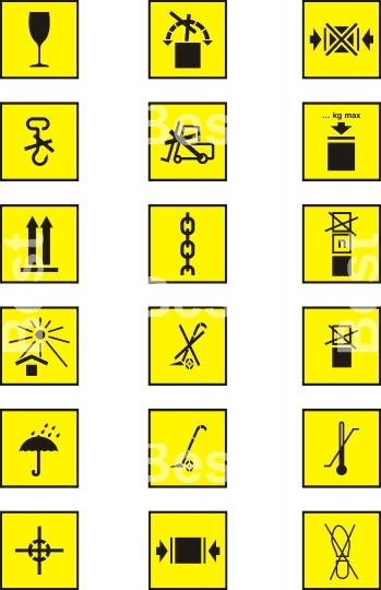Packing and parcel symbols