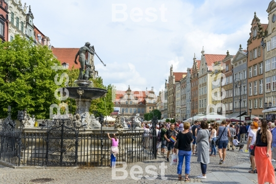 Long Market Square in Gdansk