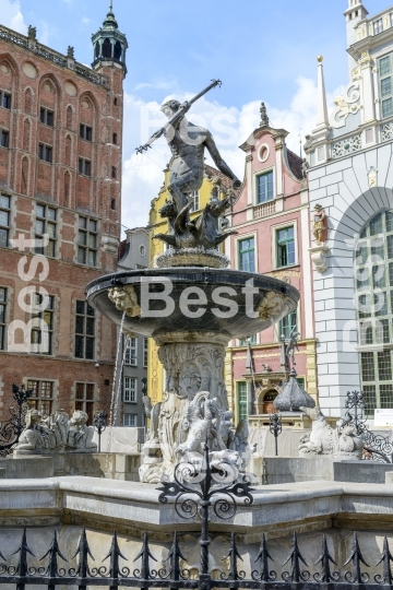 Neptun fountain in Gdansk