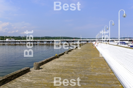 Pier in Sopot by the Baltic Sea